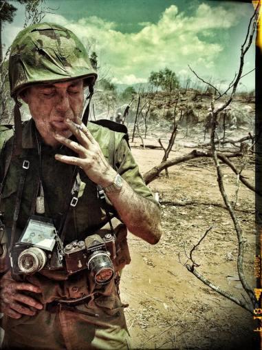 A shot I took of Maurizio Lombardi as 'Il Moro'... on set at Madagui, Vietnam.